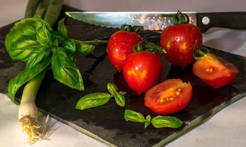 """Schneidbrett Tomaten - 04.07.18 Vortrag """"Ernährung mit Cellagon"""""""