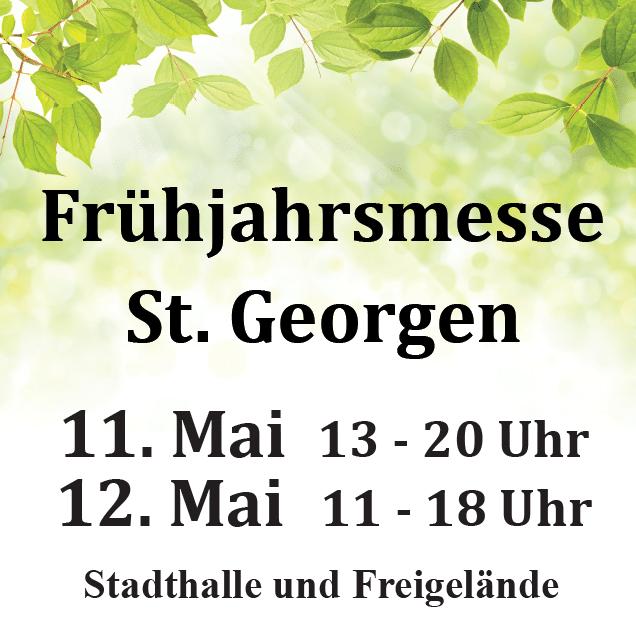 Frühjahrsmesse St. Georgen 2019 - 11.-12.05.2019 Frühjahrsmesse St. Georgen